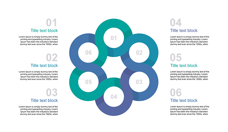 6 circle template for powerpoint free download now