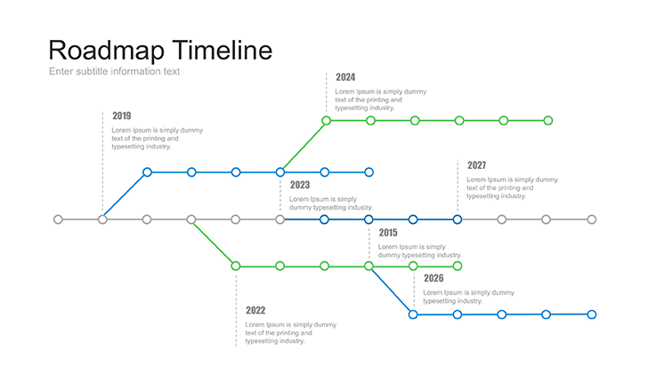 free roadmap template powerpoint - download now!, Modern powerpoint
