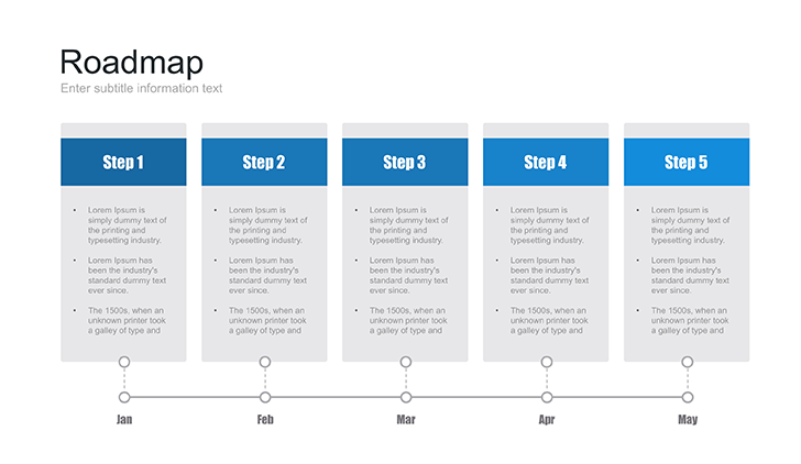 PowerPoint roadmap template Free - Download Now!