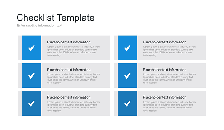 free checklist template for powerpoint ppt download now