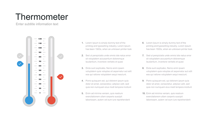 thermometer template  ppt for powerpoint