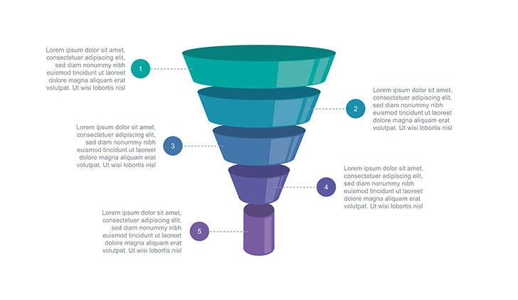 funnel diagram ppt type 2 for marketing, business, education, Modern powerpoint