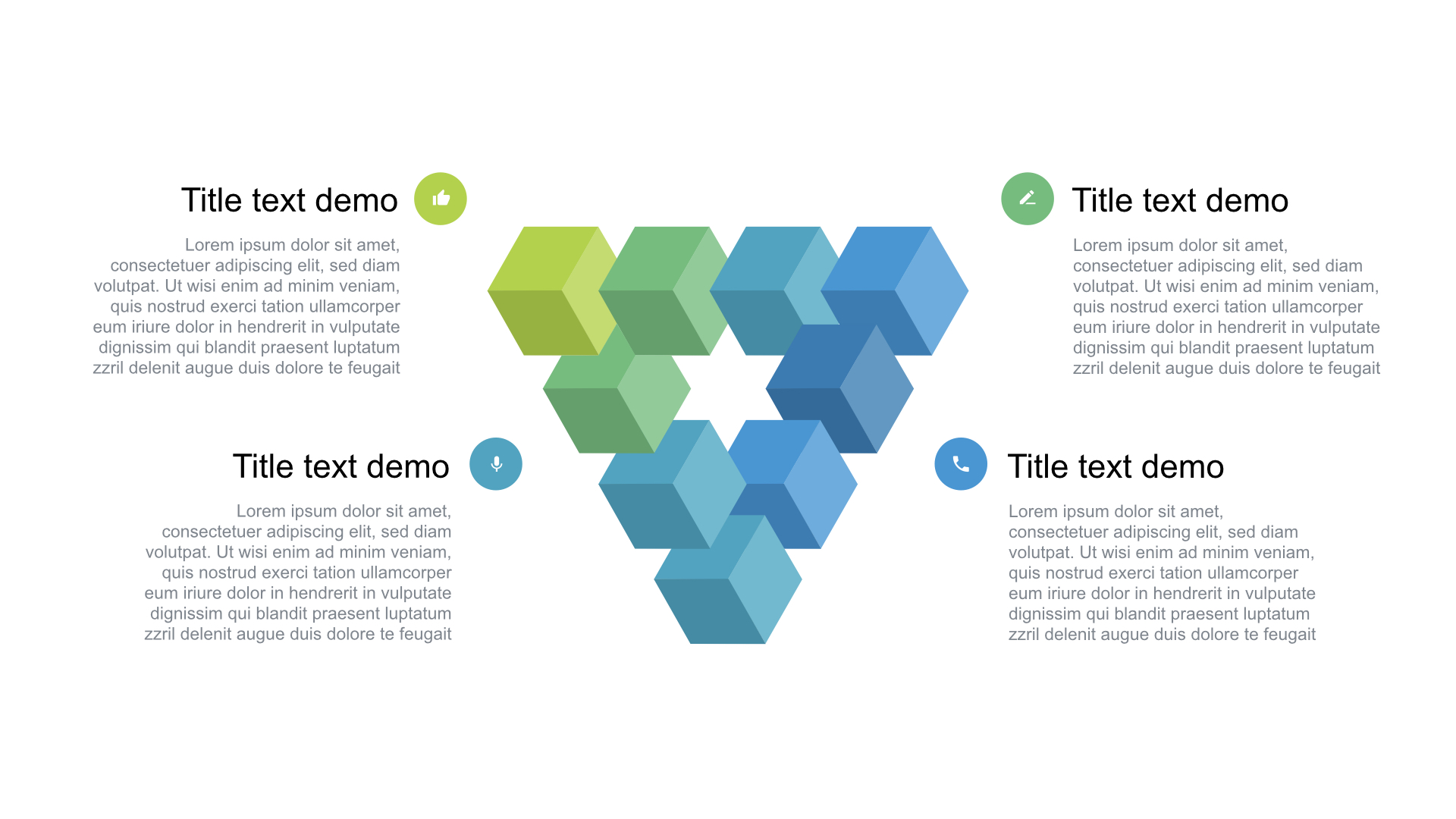 the triangle free powerpoint template consists of the only one premade slide that can be used for different projects and be the decoration of your