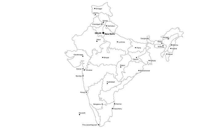 republic of india ppt map for powerpoint download now