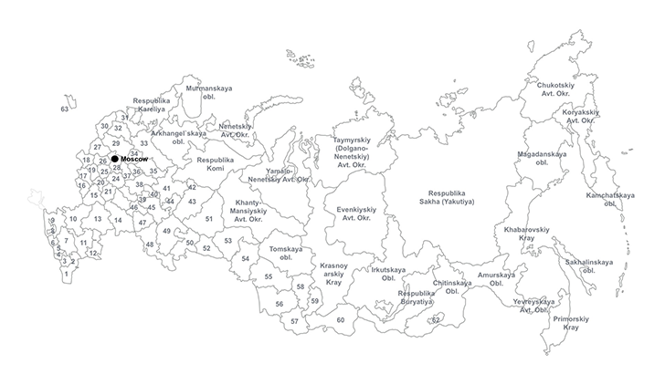 russian federation ppt map for powerpoint