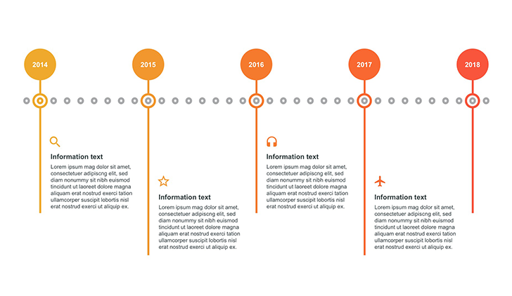 horizontal timeline template ppt free download now