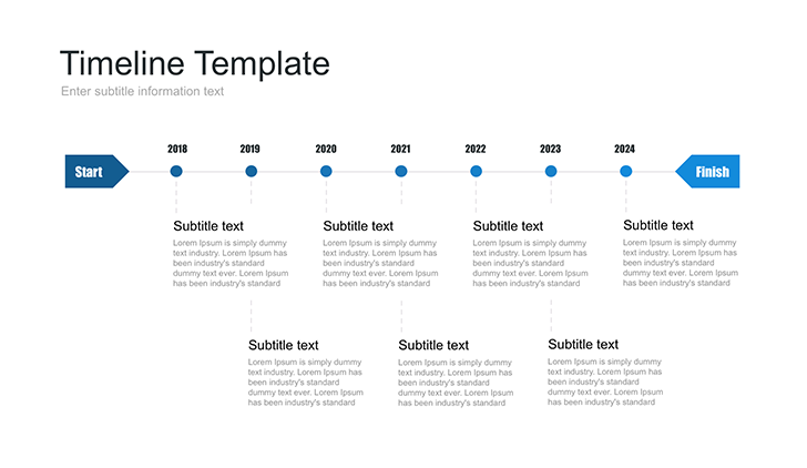 Visual Timeline Template For Google Slide Free Download Now