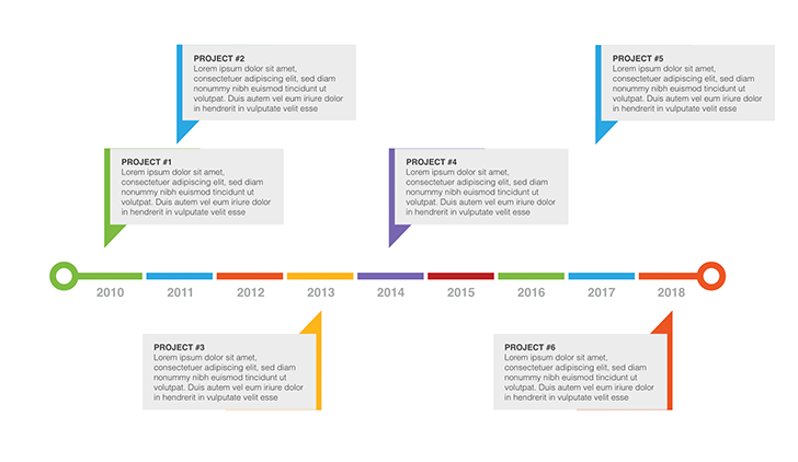 Drawing Lines In Keynote : Free timeline template sample project