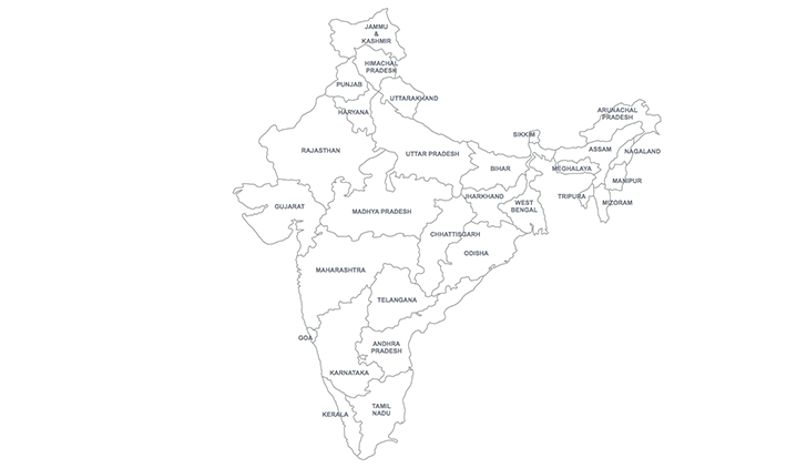 Map India for Keynote, MAC, iWork - Download Now!