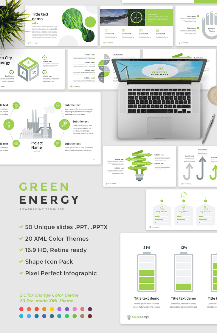 Green energy powerpoint template download now green energy powerpoint template toneelgroepblik Images
