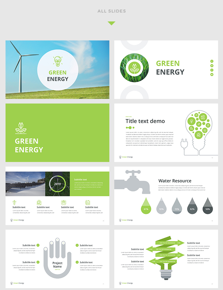 Green energy powerpoint template download now green energy powerpoint template toneelgroepblik Gallery