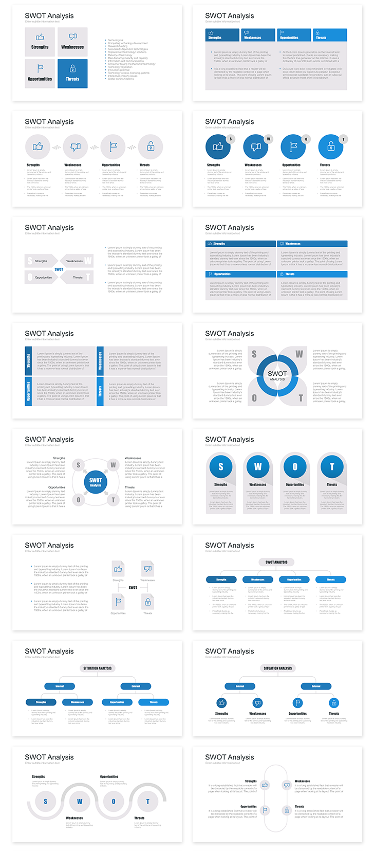 swot analysis templates ppt
