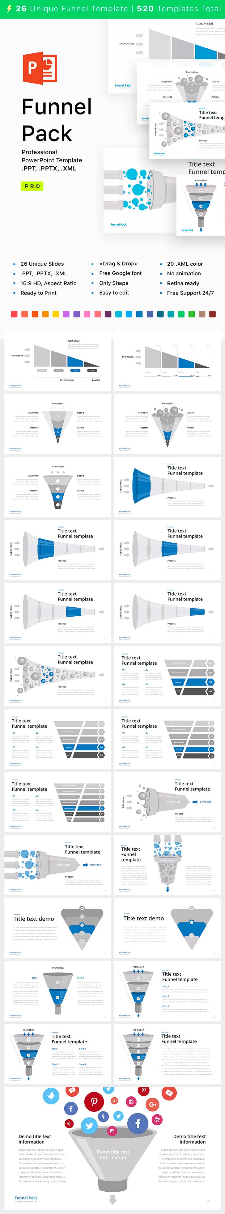 Powerpoint Funnel Shape Ppt Pptx Xml Download Now