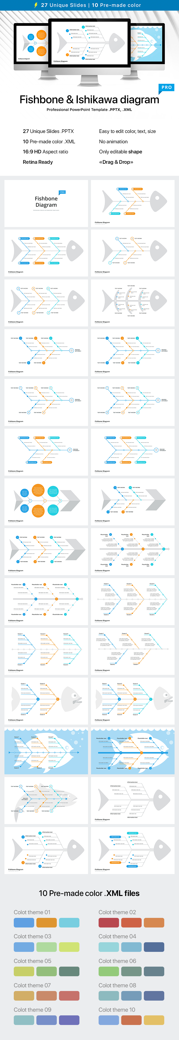 Fishbone diagram template for powerpoint download now fishbone diagram template for powerpoint ccuart Gallery