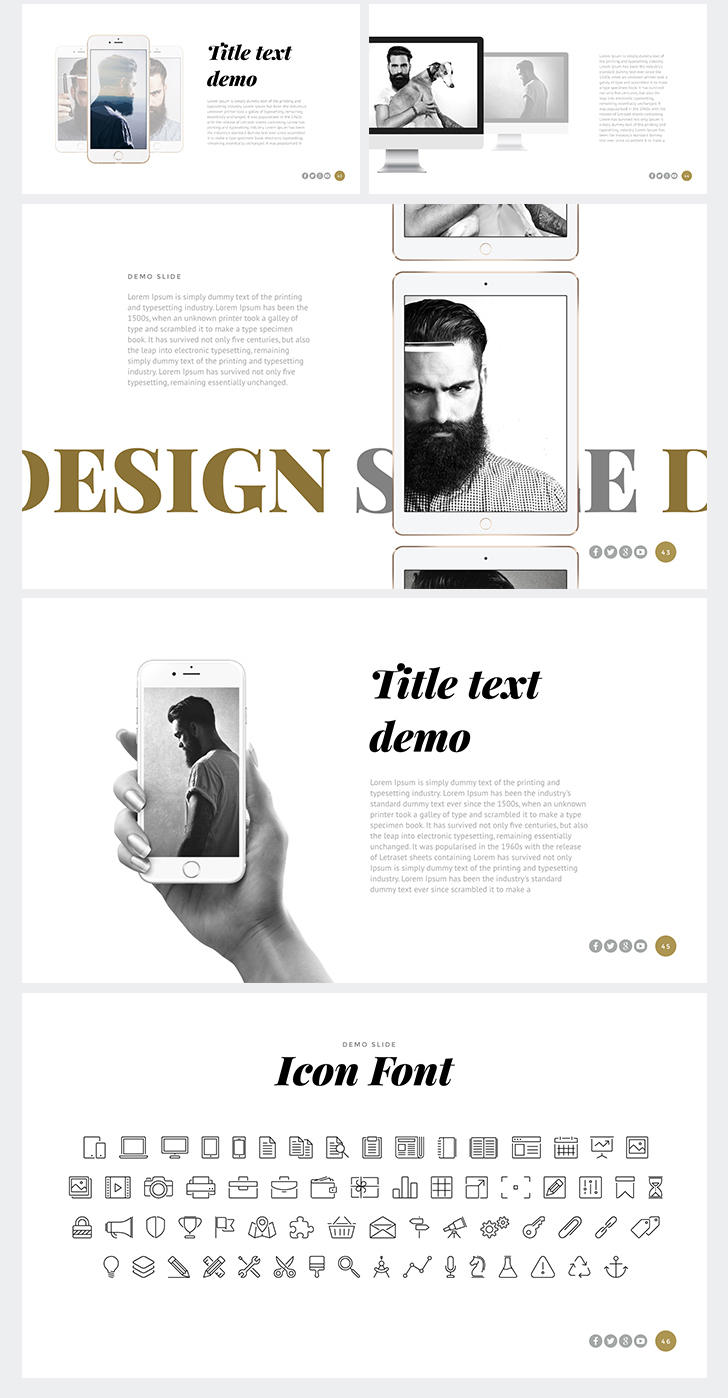 One Powerpoint Template Download Now
