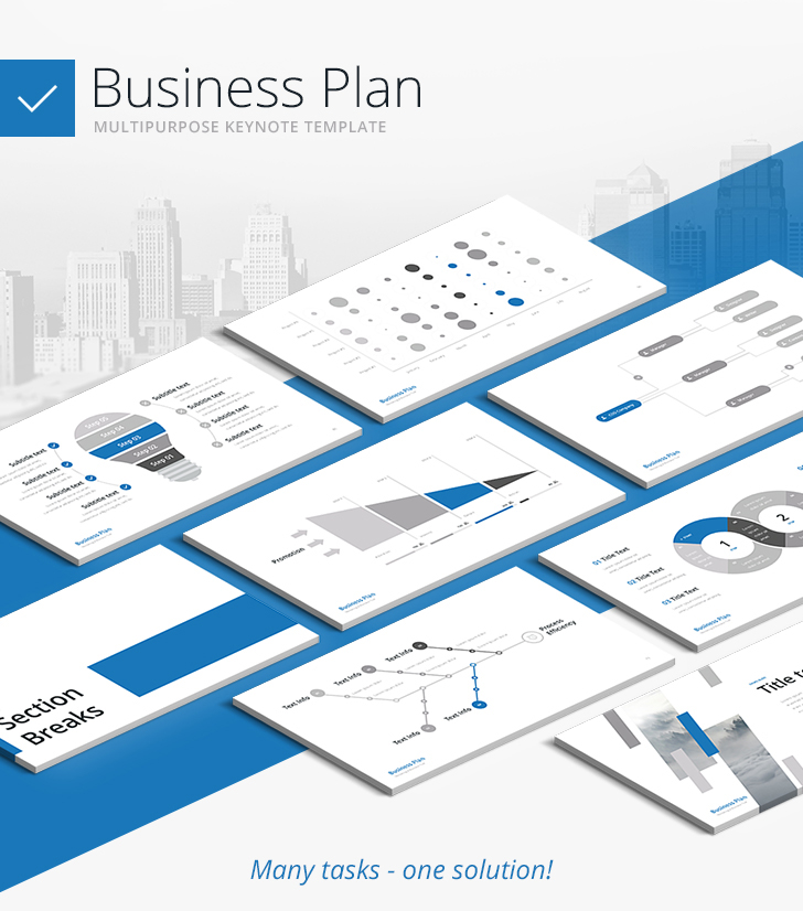 business plan multipurpose keynote template download now