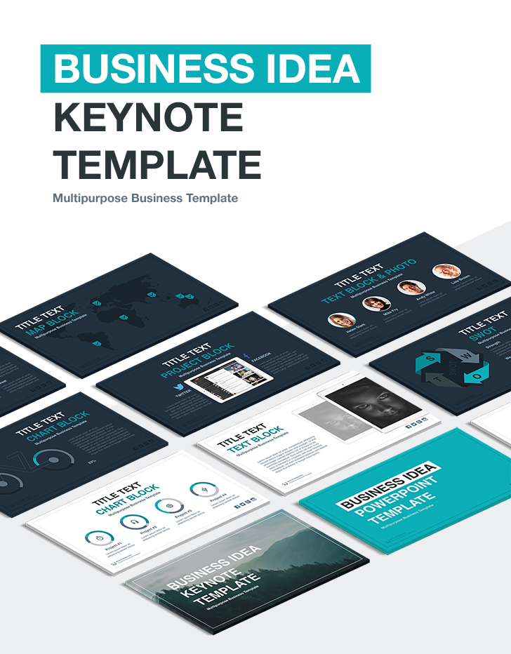 business idea keynote template download now