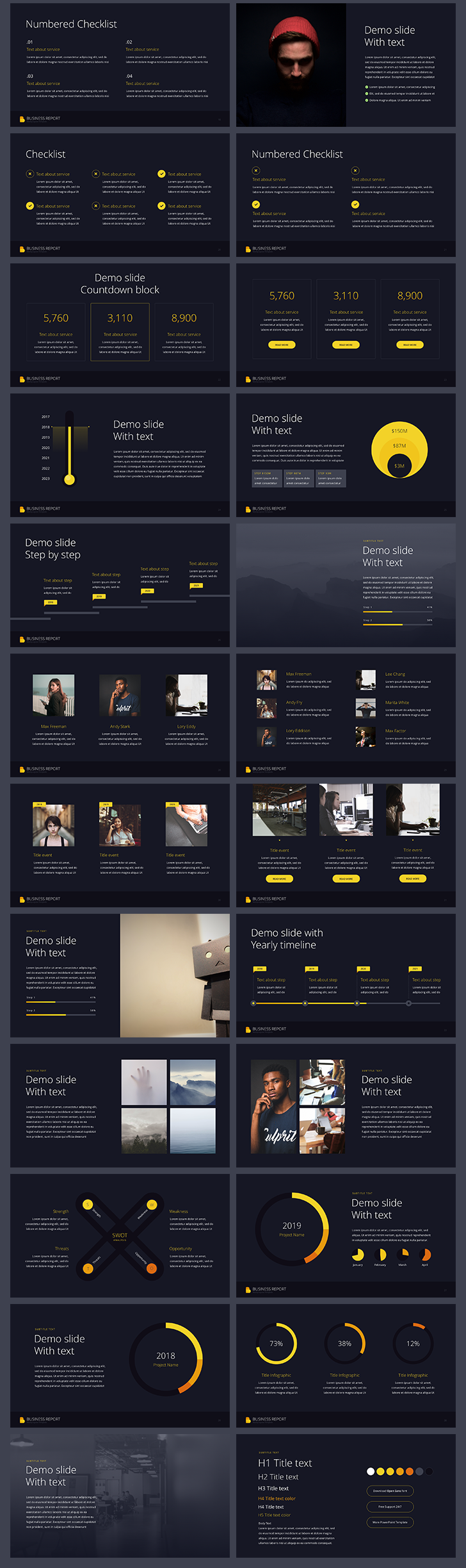 Business report powerpoint template vol 1 free download now business report powerpoint template vol 1 toneelgroepblik Gallery