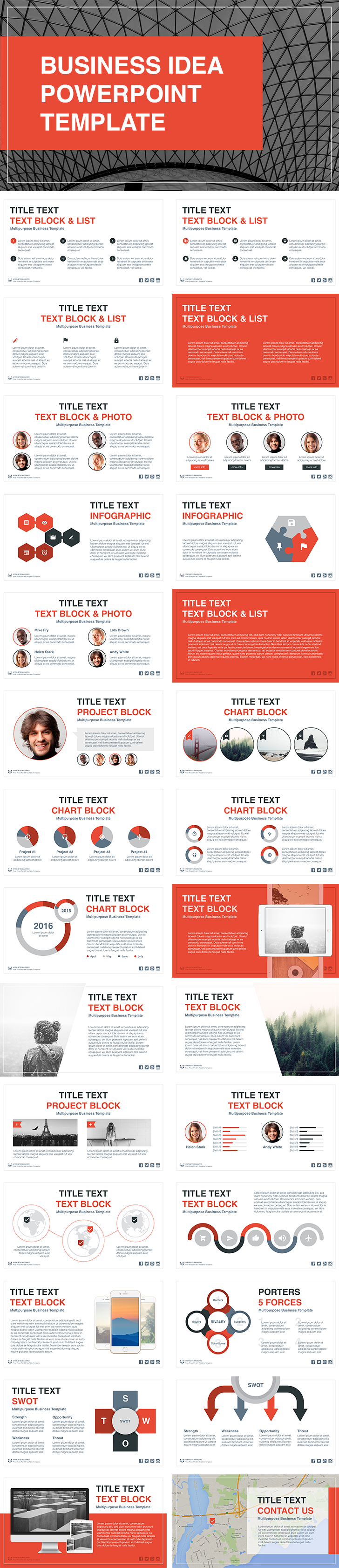 Business idea free powerpoint template download free use business idea free powerpoint template to quickly create a visual report plan report or presentation powerpoint presentation template is fully cheaphphosting Images