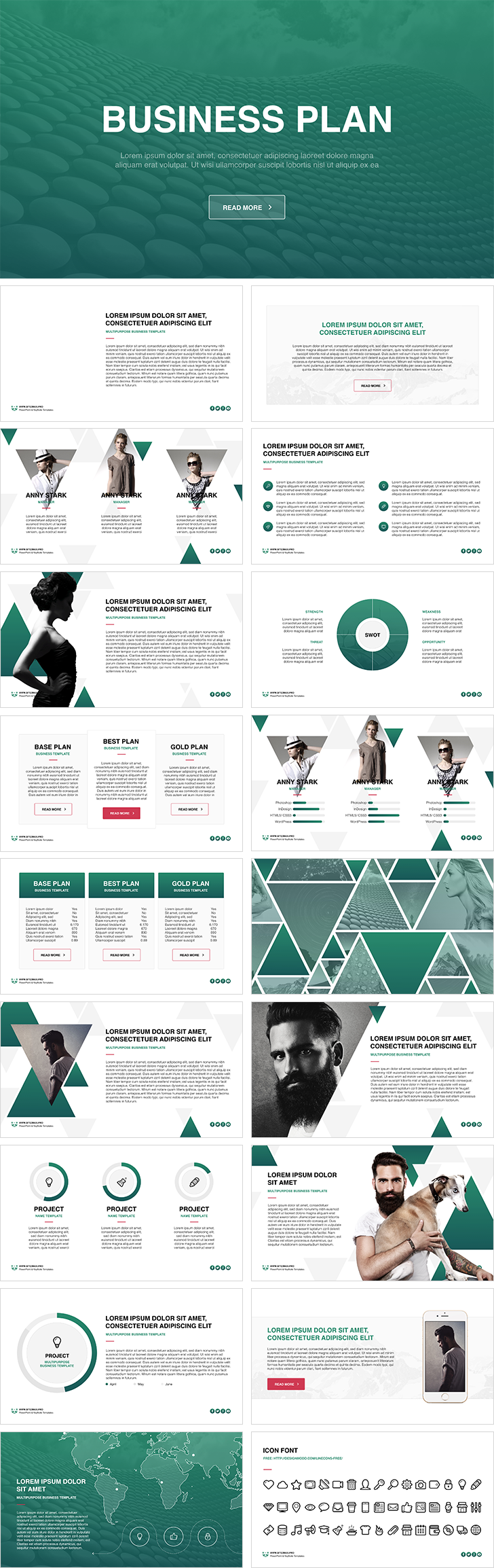 business plan free powerpoint template download free