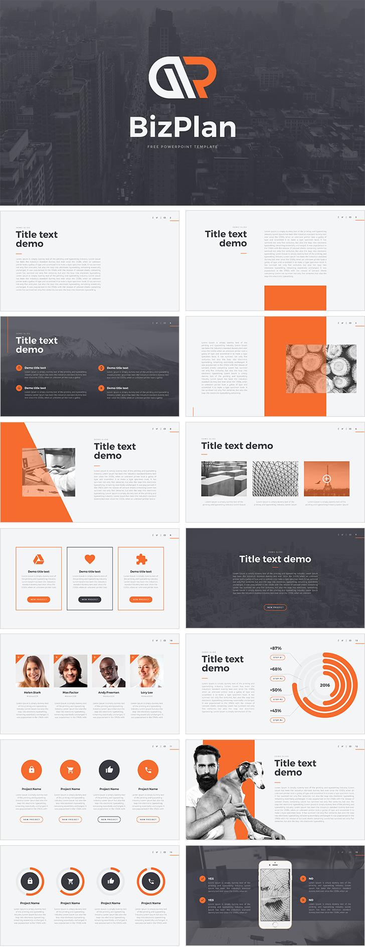 Bizplan free powerpoint template download free bizplan free powerpoint template alramifo Images