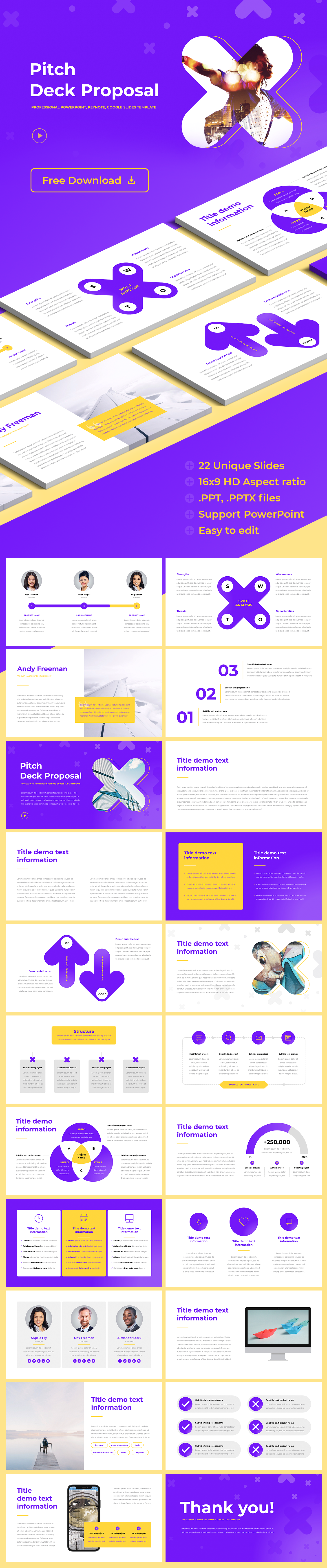 pitch deck ppt free template hislide io download now