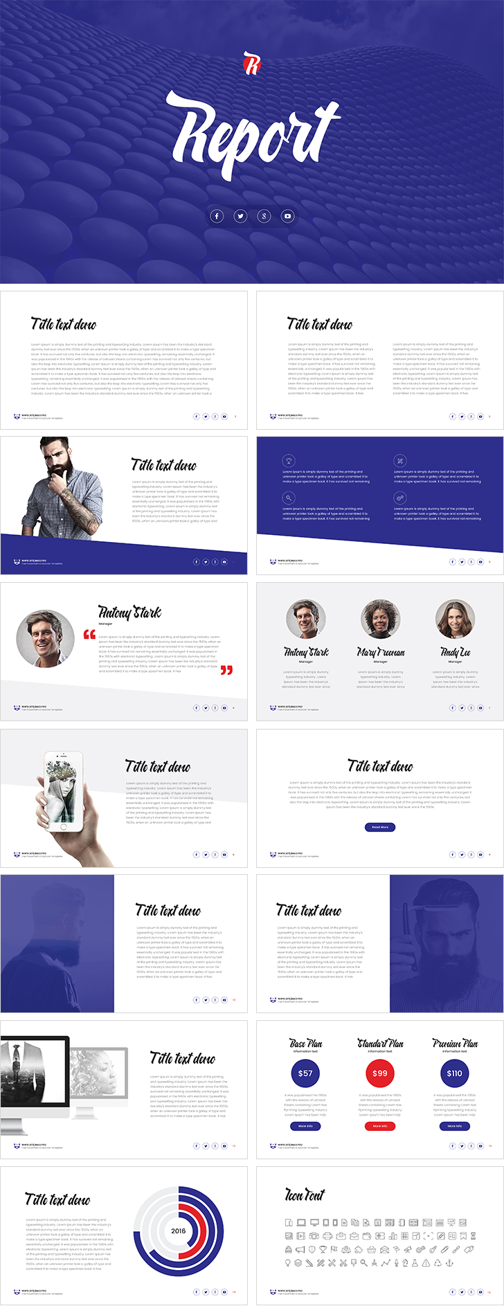 Report free powerpoint template download free report free powerpoint template toneelgroepblik Gallery