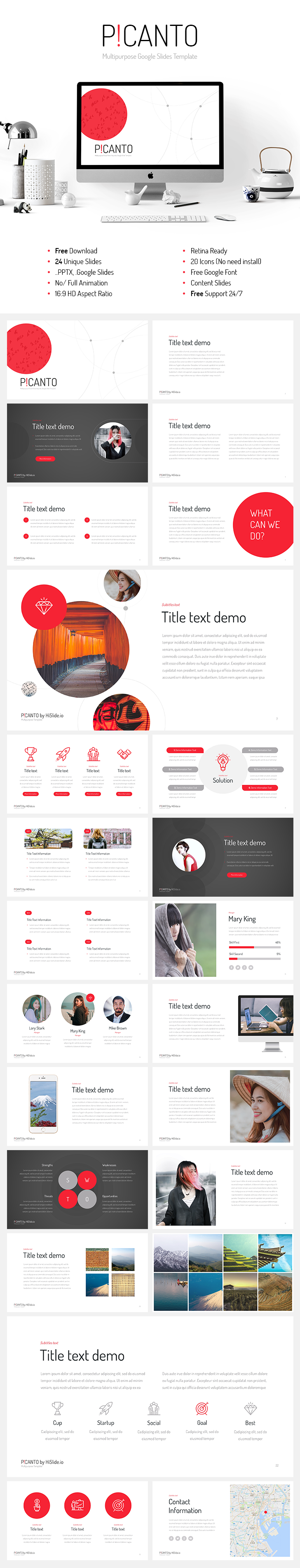 picanto google slides template free download