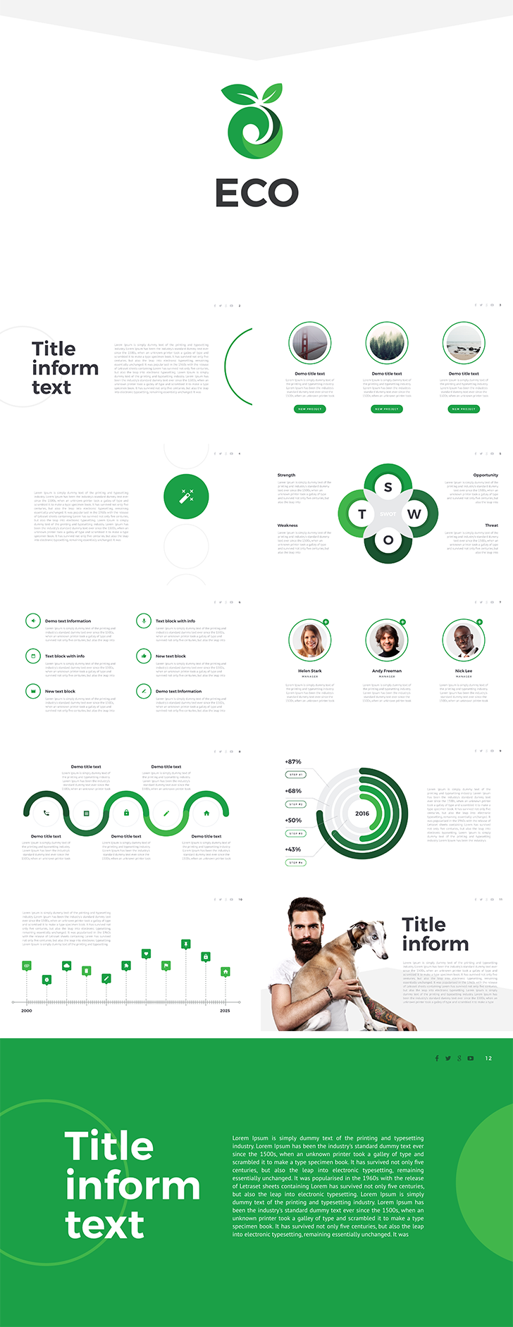 Eco free keynote template free download now for Free keynote template