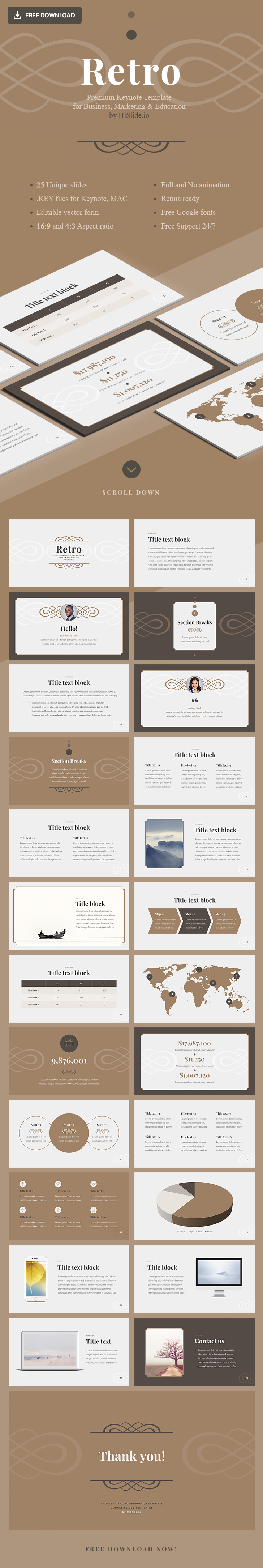 Free Retro templates for Keynote - Download Now!